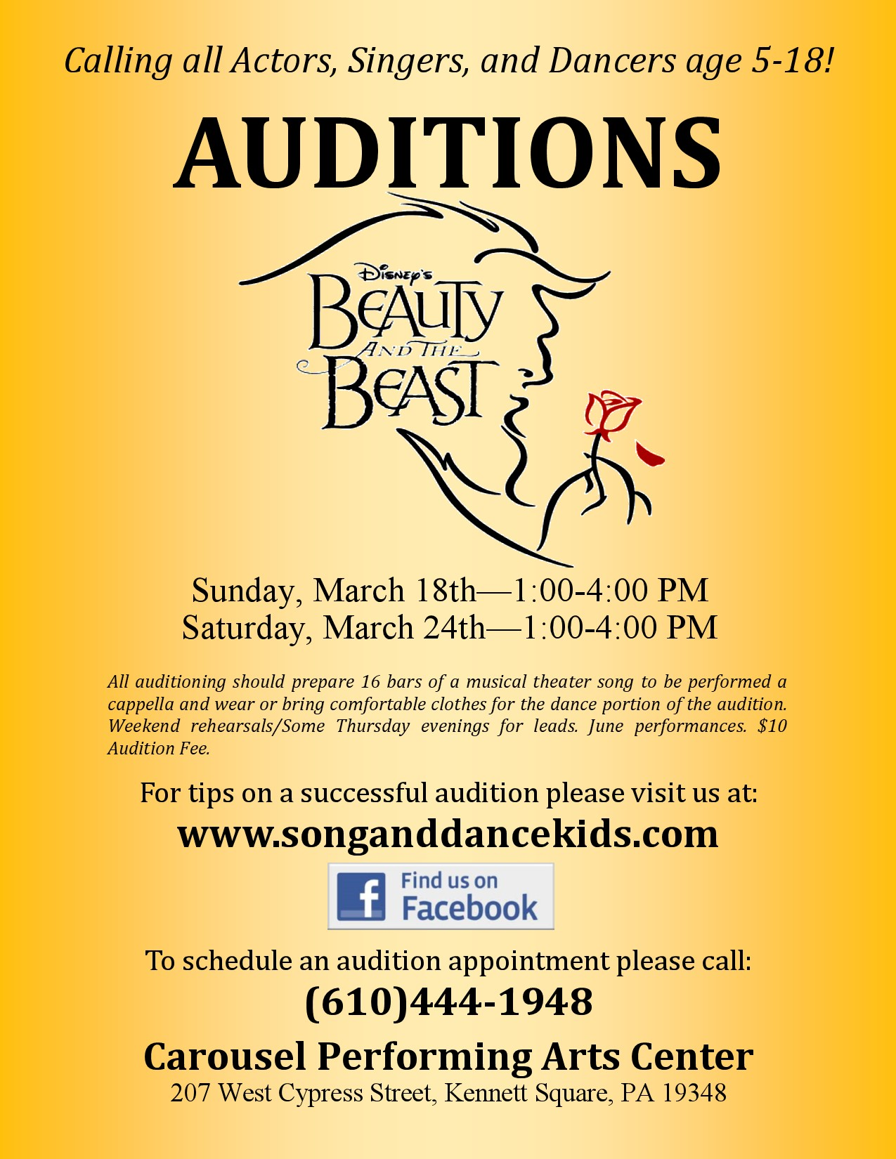 Audition Notice 2018